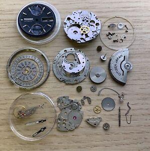 LOT Lote Citizen 8100 8110 For Parts Piezas 901191 Watch Automatic Chronograph