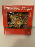 *Vintage Christmas Tree Topper STAR Tree Topper Plaque Foremost Industries w Box