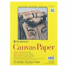 Strathmore 310 Glue Bound Canvas Paper Pad 9 x 12 Inches (ST310-9), New, Free Sh