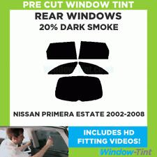 Pre Cut Window Tint - Fits Nissan Primera Estate 2002-2008 - 20% Dark Rear