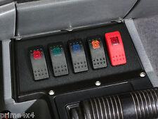 Jeep Cherokee 84-96 XJ MJ Heavy Duty Illuminated Carling Contura 5 Switch Panel