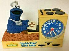 1977 SESAME STREET COOKIE MONSTER COOKIE TIME CLOCK RADIO,MODEL 4801,CLOCK WORKS