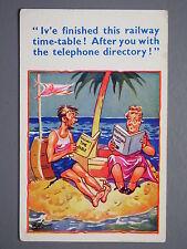 R&L Postcard: Comic HB 6265, Desert Island Railway Timetable Telephone Directory