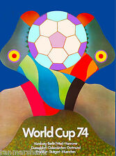 1974 World Cup Soccer Football Germany Sports Travel Advertisement Poster