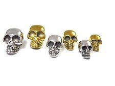 Edelstahl Skull Bead-Totenkopf Charm-Perle-3 Gr.-für Paracord-Loch: Horizontal