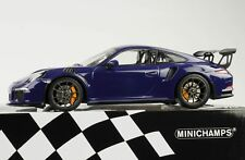 Porsche 911 991 GT3 RS ultraviolet 2015 1:18 Minichamps diecast