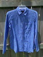 J. CREW Boy SHIRT Button Down Size 2 Small Blue Gingham Plaid Long Sleeve