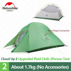 Silicone Ultralight Cloud Up 1 2 3 Person Camping Tent Outdoor  With Free Mat