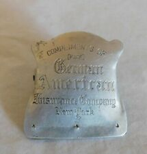 German American Insurance Company New York  (Fire) - Advertising Tin Paper Clip