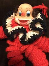 Vintage Crochet Rainbow Clown Doll Scary Creepy ? Or Cute