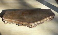 Rare:Ancien socle en bois dore pour statue d église, pendule ou bronze