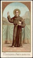 antico santino cromo-holy card S.LEONARDO DA PORTO MAURIZIO