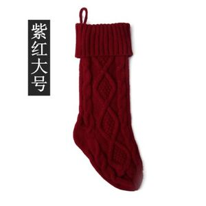 Large 46CM Knitted Woolen Candy Bag Gift Bag Socks Ornament Christmas Socks