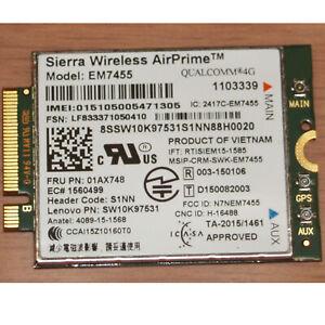 Lenovo LTE 4G WWAN Modul AirPrime EM7455 LTE-A 01AX748 SW10K97531 T570 T470s