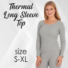Womens Ladies Thermal Long Sleeved T Shirt Warm Winter Underlayer Top Base Layer