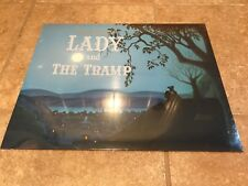 4 NEW & SEALED LADY & THE TRAMP WALT DISNEY STORE EXCLUSIVE LITHOGRAPHS & FOLDER