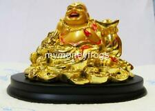 Chinese Oriental Lucky GOLD Laughing Happy Love Happy Money Frog Buddha #G4