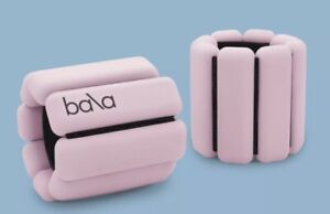 Bala Bangles Adjustable Wearable Wrist & Ankle Weights 1lb Each Blush Pink New