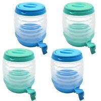 4er Set Wasserspender mit Zapfhahn 3,5l | Getränkespender Saftspender Faltbar