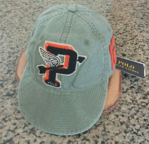 Polo RALPH LAUREN Cap Winged Arrow P Patch Pwing Stadium Varsity Hat