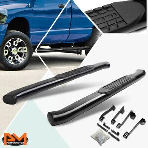 """For 02-09 Dodge Ram Regular Cab Curved 4"""" Side Step Nerf Bar Running Board Black"""