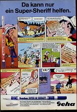 Geha -- Da kann nur der Super Sheriff helfen--Lucky Luke  -- Werbung von 1986--