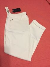 "NWT Not Your Daughters Jeans NYDJ White Jeans ""Leanne Boyfriend"" Sz 14P"