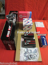 Chevy 350 5.7L Engine Kit Flat Top Pistons+Rings+Timing+OP+head bolts 1969-79