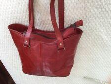 Bolso De Cubo Rojo 32x24. Piel