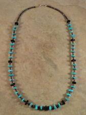 Santo Domingo Turquoise Jet & Heishi Necklace