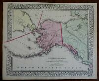 Alaska United States Aleutian Islands Bering Strait 1867-9 Mitchell map
