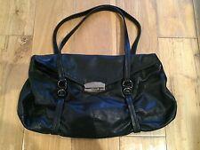 Prada Black Soft Leather Baguette GM Shoulder Bag Purse