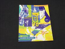 MAIRIE DE PARIS PROGRAMME ÉTÉ 98  CPA CPSM VINTAGE 1998
