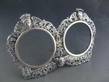 Victorian Sterling Picture / Photo Frame Holder w/ Angels ~ ornate