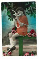 CPA Carte Postale-Pays Bas Hartelijk Gefeliciteerd-Une jeune fille