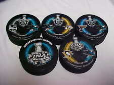 2016 NHL Stanley Cup Playoffs San Jose Sharks Hockey Five Puck Souvenir Pack