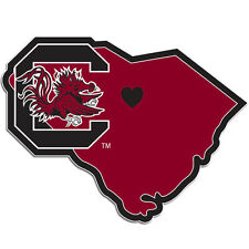 South Carolina Gamecocks Home State Vinyl Auto Decal (SC Shape) NCAA Licensed