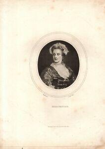 ANTIQUE PORTRAIT -THE ACTRESS LAVINIA FENTON aka LAVINIA, THE  DUCHESS OF BOLTON