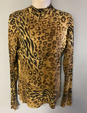 Agnes B. Paris Hooded Animal Print Longsleeve Top Size 3