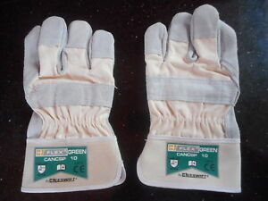 B-Flex Top Quality Canadian Heavy Duty Leather rigger Gloves - Size 10