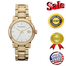 100% NEW Burberry White Dial Gold-tone Ladies Watch BU9103, ON SALE NOW