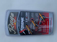 """ONE PACK Rage Slipcam X-treme extreme Mechanical  100 Grain 2.3"""" Cut Broadhead"""