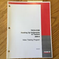 Case International IH TECH-COM HOOKING UP IMPLEMENT TO TRACTOR GUIDE MANUAL BOOK