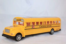 "Yellow School Bus Battery Operated 11"" Toy w Sounds Lights Moves Kids Gift Child"