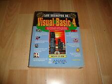 LOS SECRETOS DEL VISUAL BASIC 4  + CD DE ANAYA LIBRO EDICION DEL AÑO 1996 NUEVO