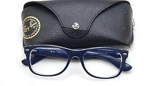 Ray Ban RB2132 6053/71 New Wayfarer Blue Sunglasses Frame 52-18 w Case
