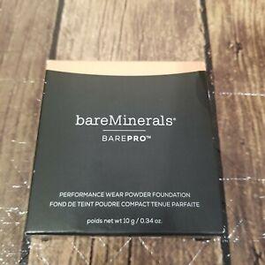 Bareminerals BarePro Performance Wear Powder Foundation 10 g .34 oz Pecan 18