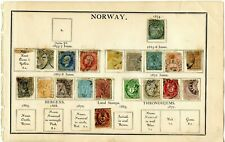 Norway page from 1870 album - mid 1800's