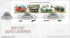 GB 2013 BRITISH AUTO LEGENDS MINI SHEET ROYAL MAIL FDC