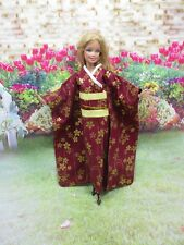 Kimono Vintage Style Outfit for Barbie Doll Dress Costume Clothing J-1